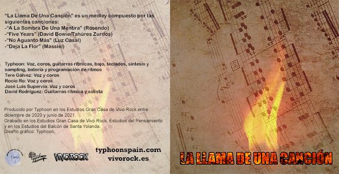 Diseño La Llama De Una Canción: Díptico interior
